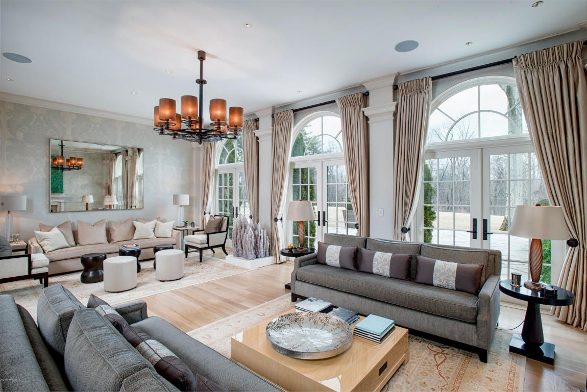 glamorous informal living area. french doors to let in all the light.
