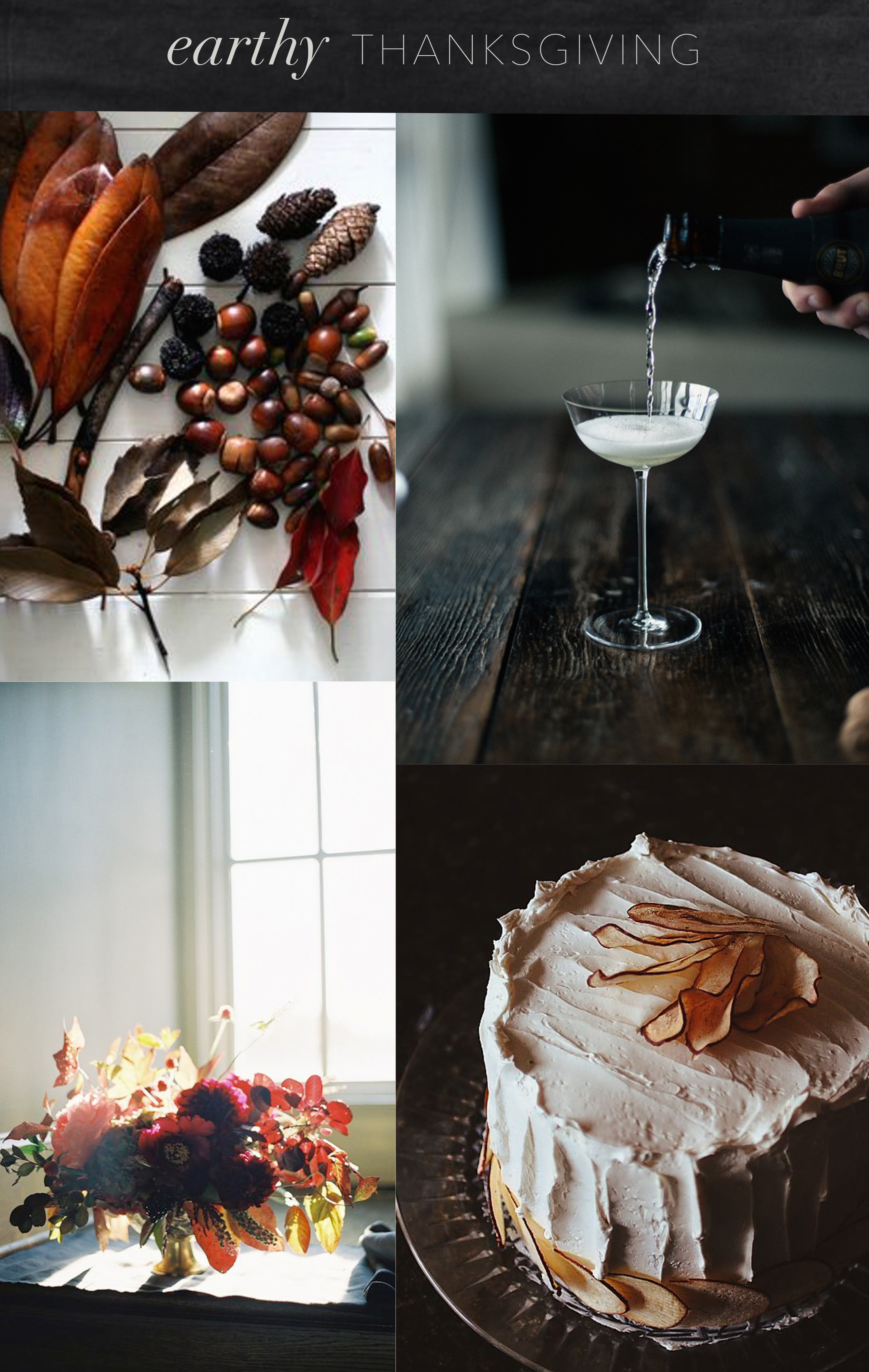 an earthy thanksgiving moodboard