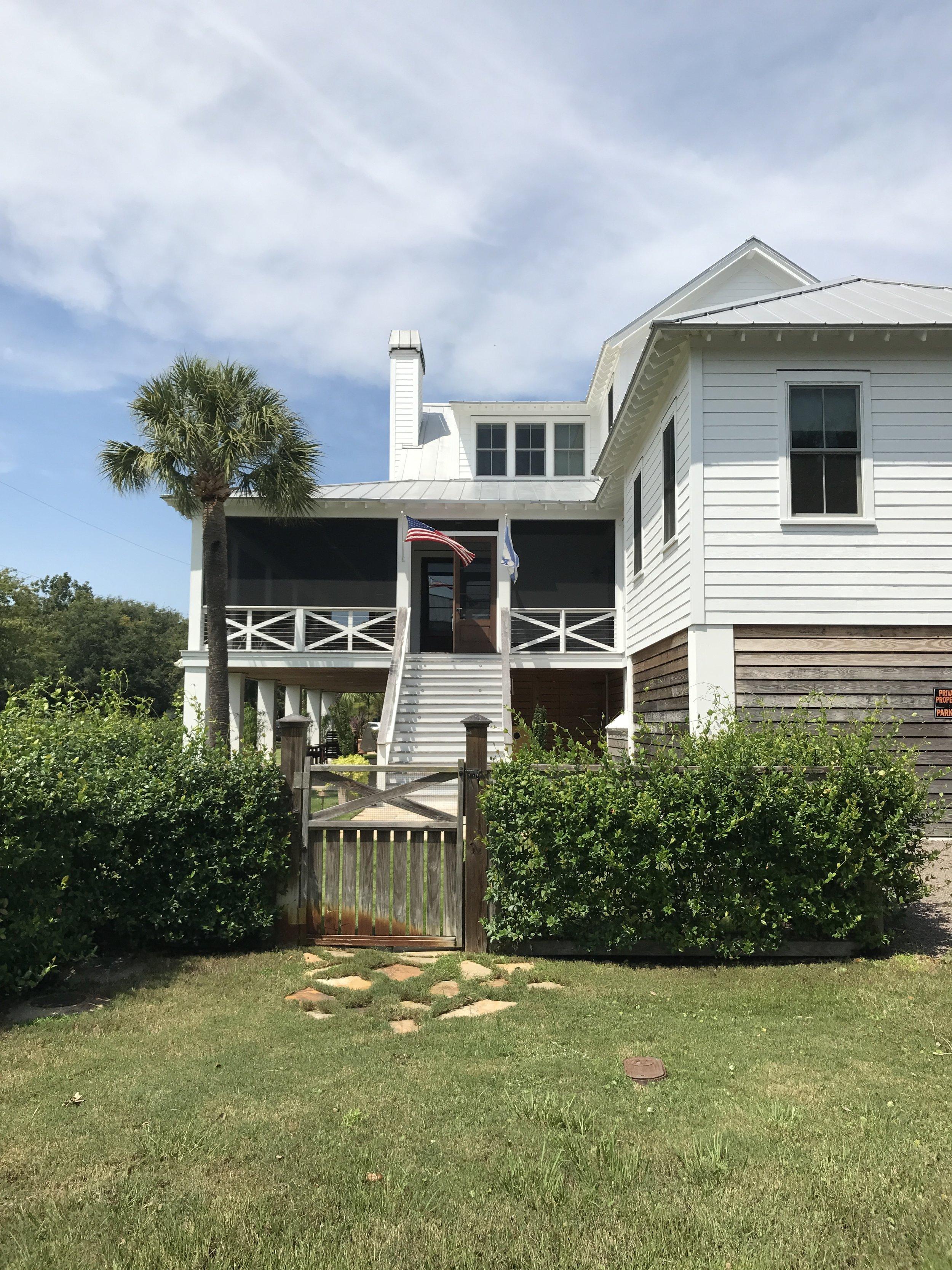 A pretty home on Sullivan's Island, SC.