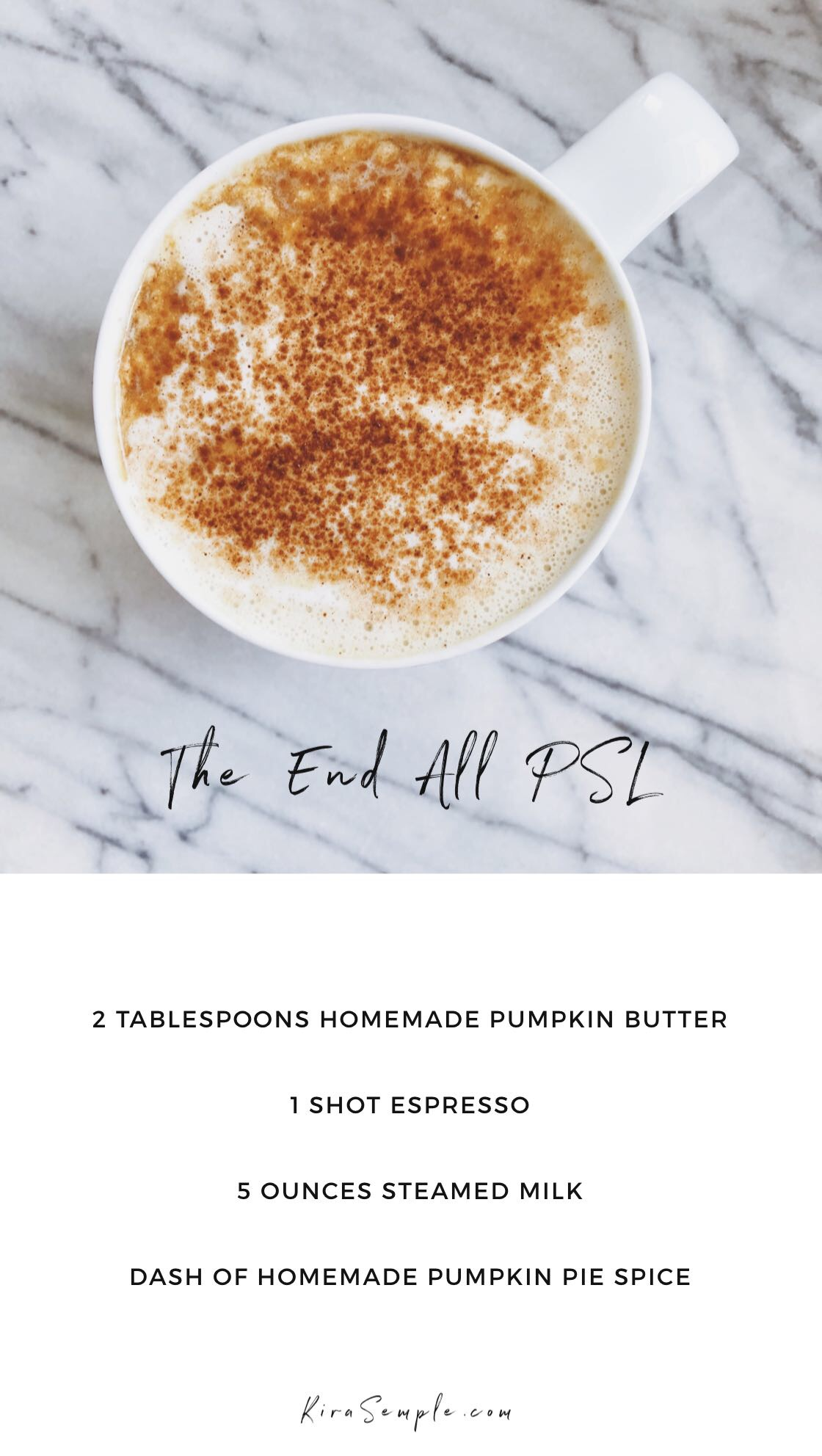 The BEST Pumpkin Spice Latte Recipe (Vegan, Gluten Free, Refined Sugar Free!) | KiraSemple.com