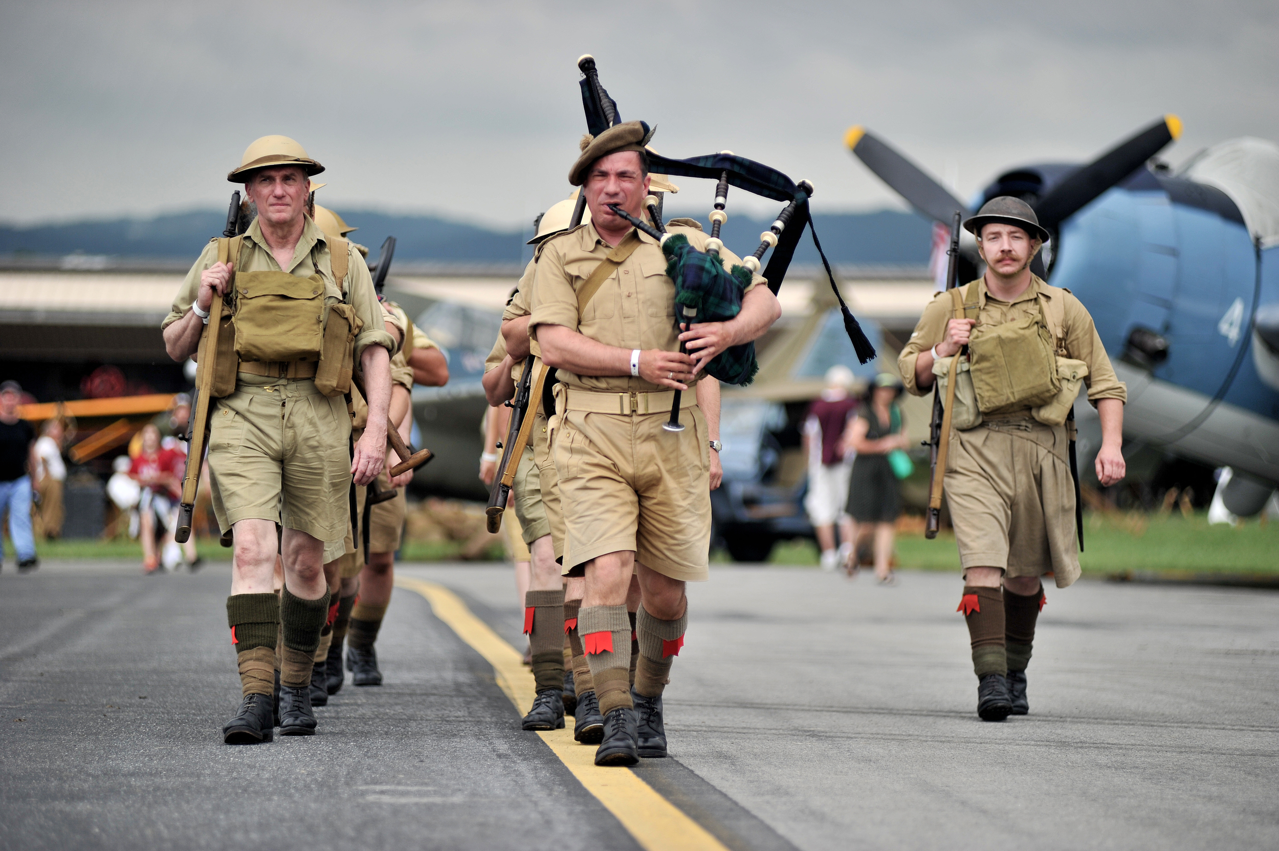Reenactors portraying the British Highland Division at the World War II Weekend in Reading, PA, on June 3, 2016. (Reading Eagle: Sarah Stier)
