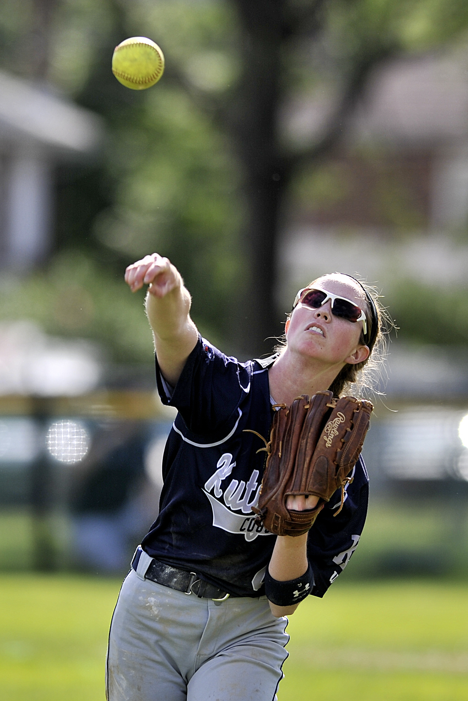 Maria Meigio throws the ball during the PIAA playoff game against Holy Redeemer on June 9, 2016, at Lyons Ballfield. (Sarah Stier: Reading Eagle)
