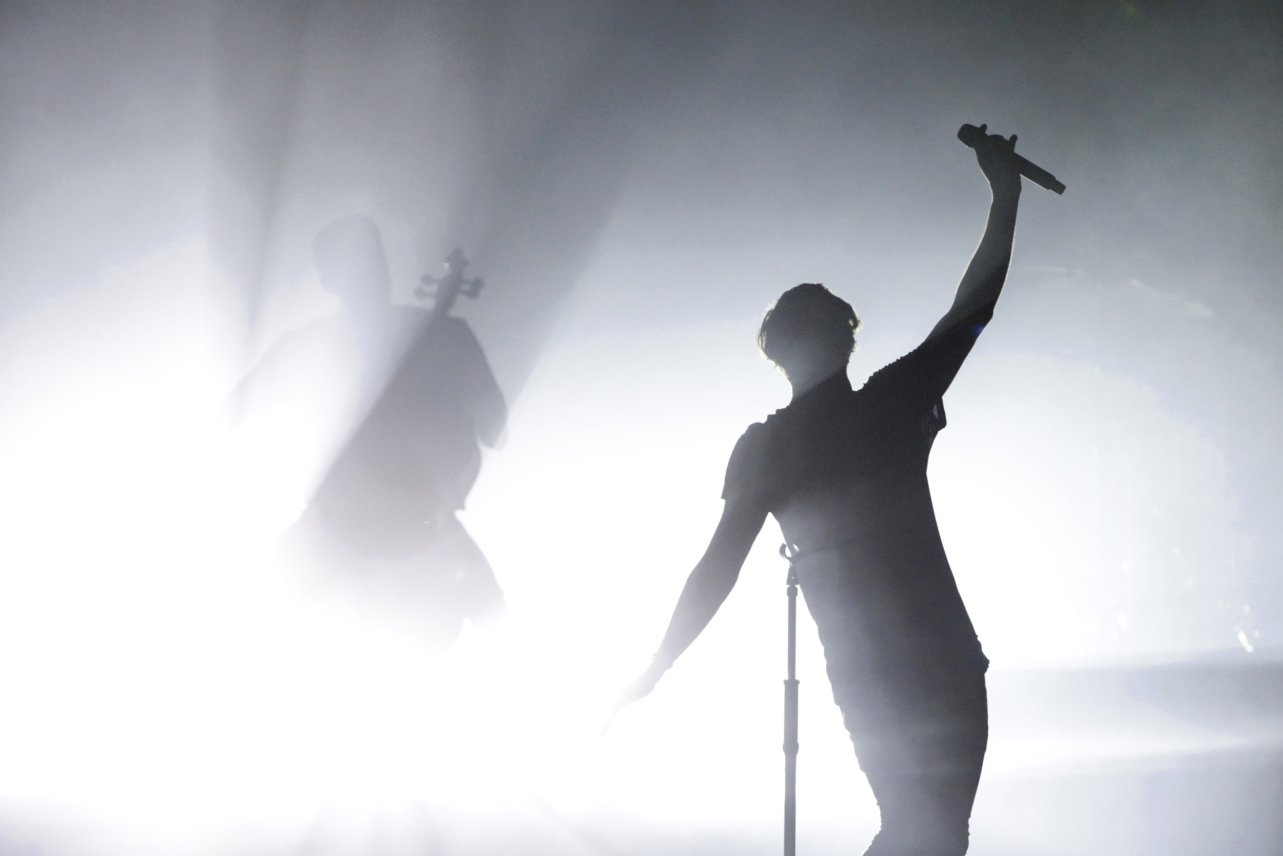 Ryan Tedder, lead singer of OneRepublic, performs at Klipsch Music Center on Thursday, July 13, 2017.