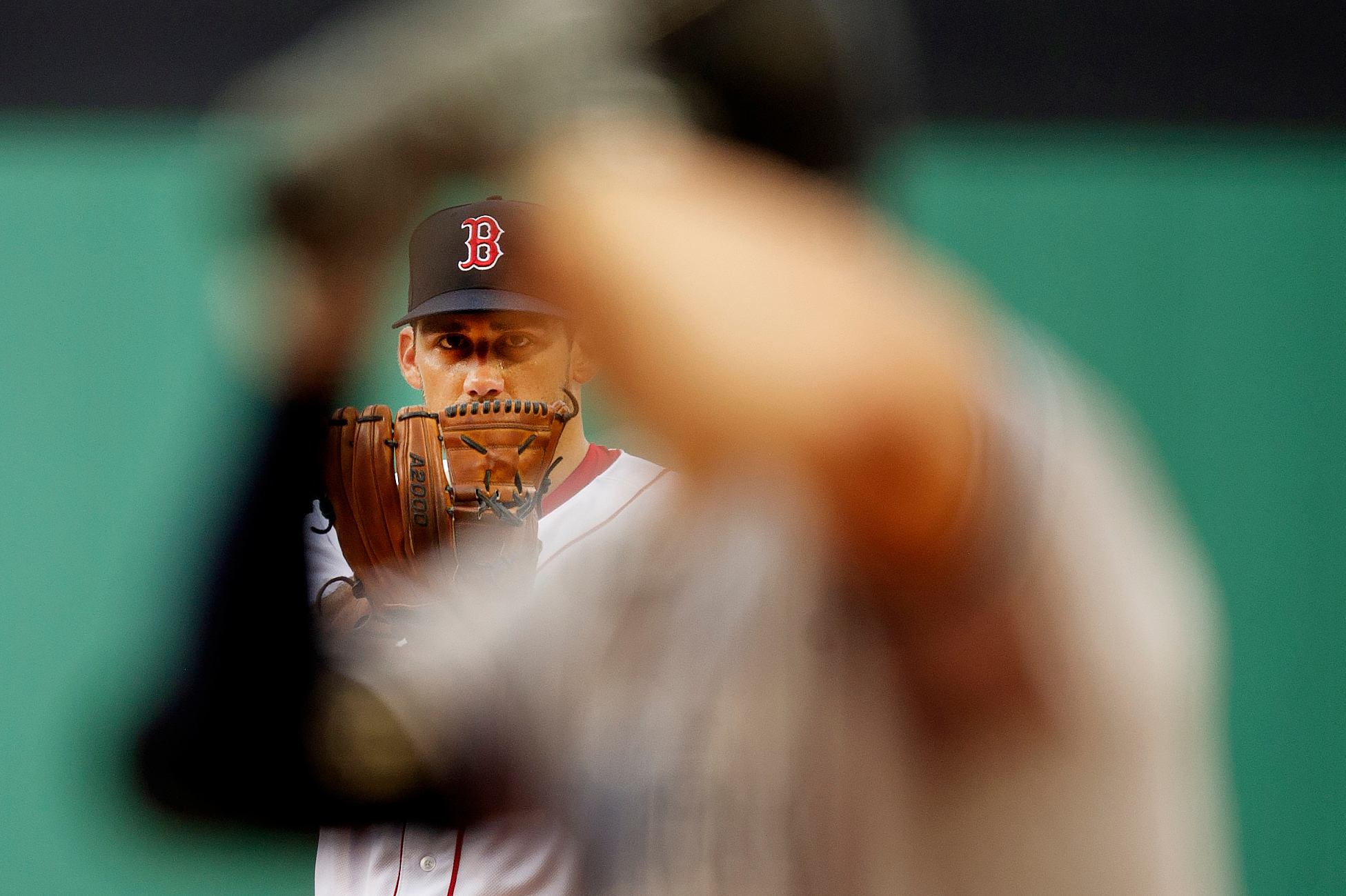 Boston Red Sox pitcher Nathan Eovaldi pitches during the game against New York Yankees at Fenway Park in Boston, Massachusetts on Saturday, August 4, 2018.