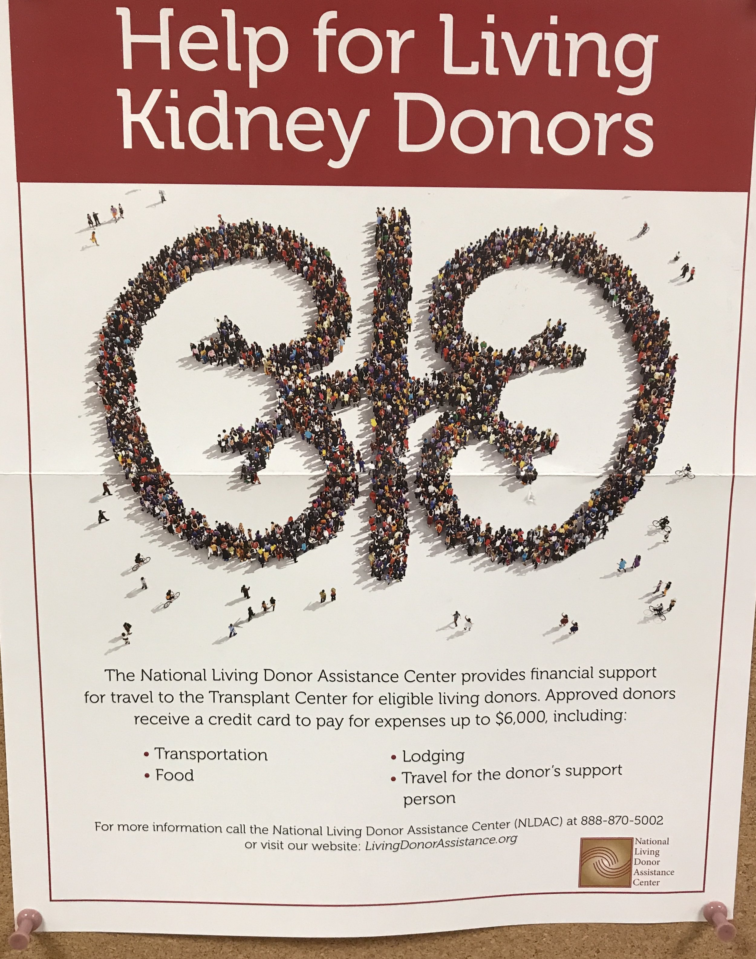 Did you know? - The National Living Donor Assistance Center provides financial support for travel to the Transplant Center for eligible living donors!