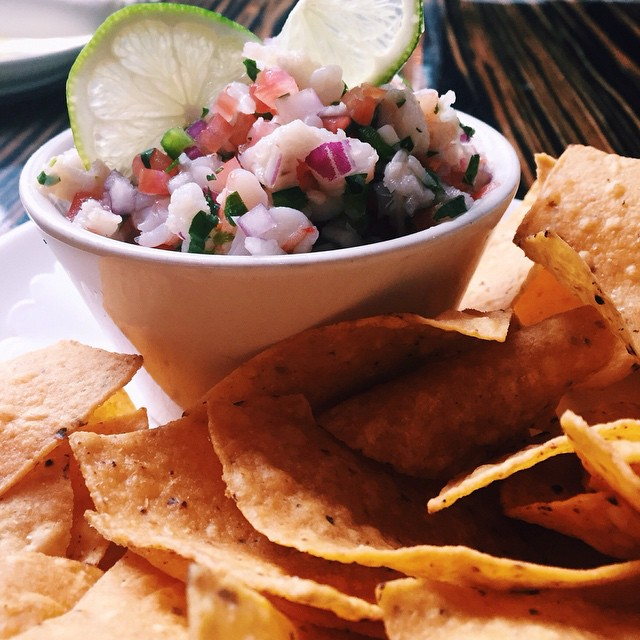 One of our best cold appetizers: Red Snapper Ceviche. The best snack #chicagofood #ceviche
