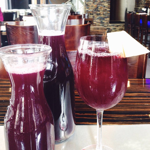 Friday and 75 degrees means the beginning of our Friday sangria specials! $12 for .5L and $20 for 1L! #chicagospecials #friday #chitowndrink #sangria #pineapple
