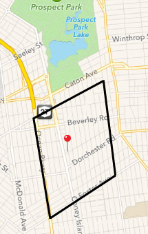 Our delivery zone is Ocean Parkway to Ocean Avenue and from Church Avenue to Foster Avenue