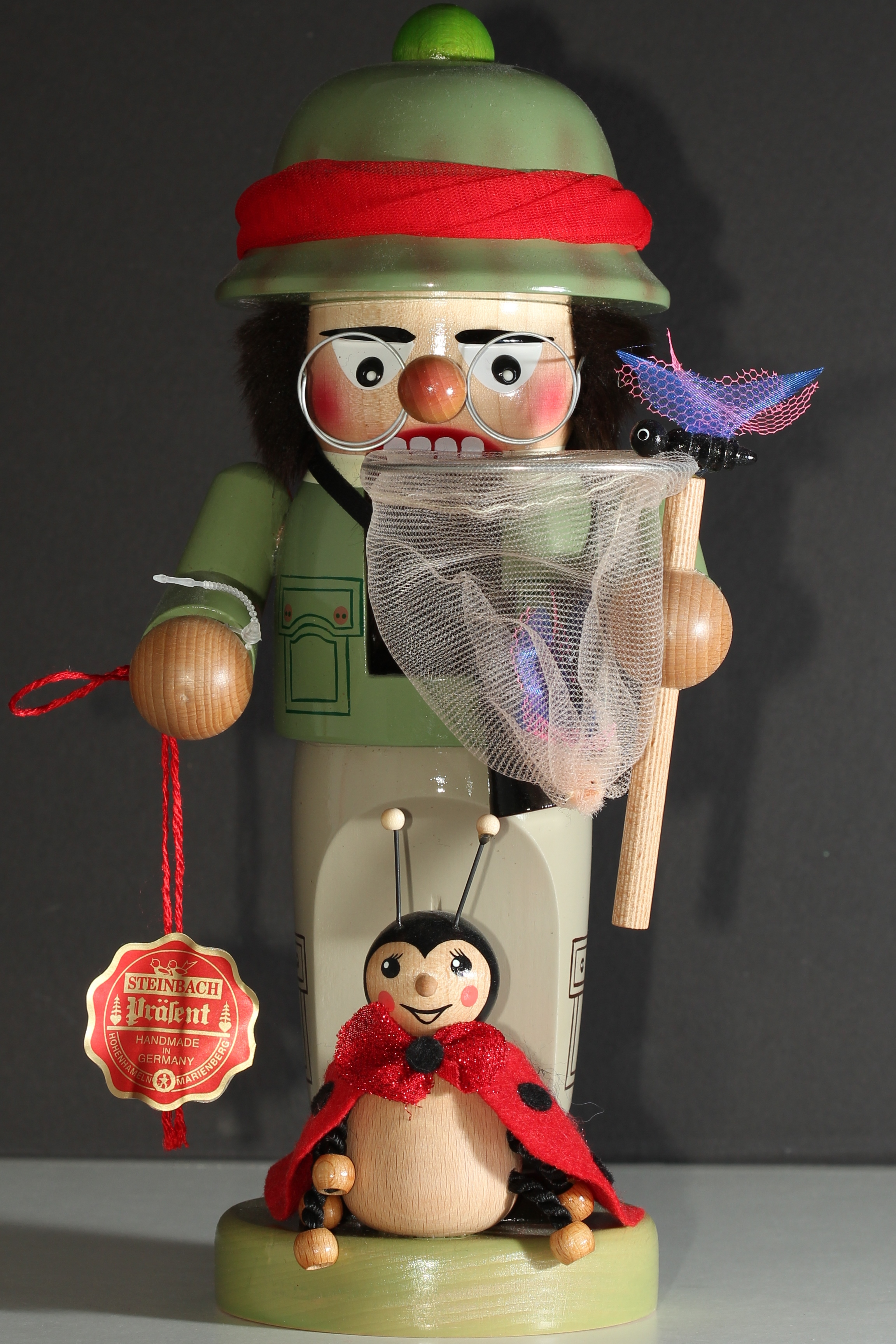Note: This is a representation of Kyle Foster as an Entomolgist. Kyle Foster is not, in fact, a nutcracker.