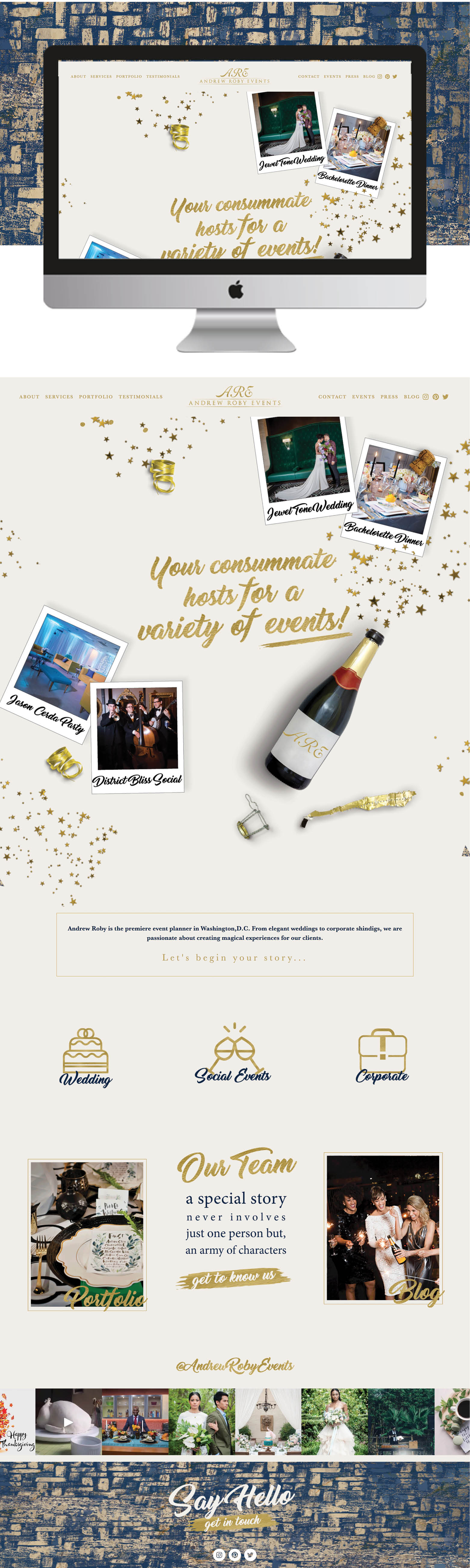 Andrew Roby Events Website Design