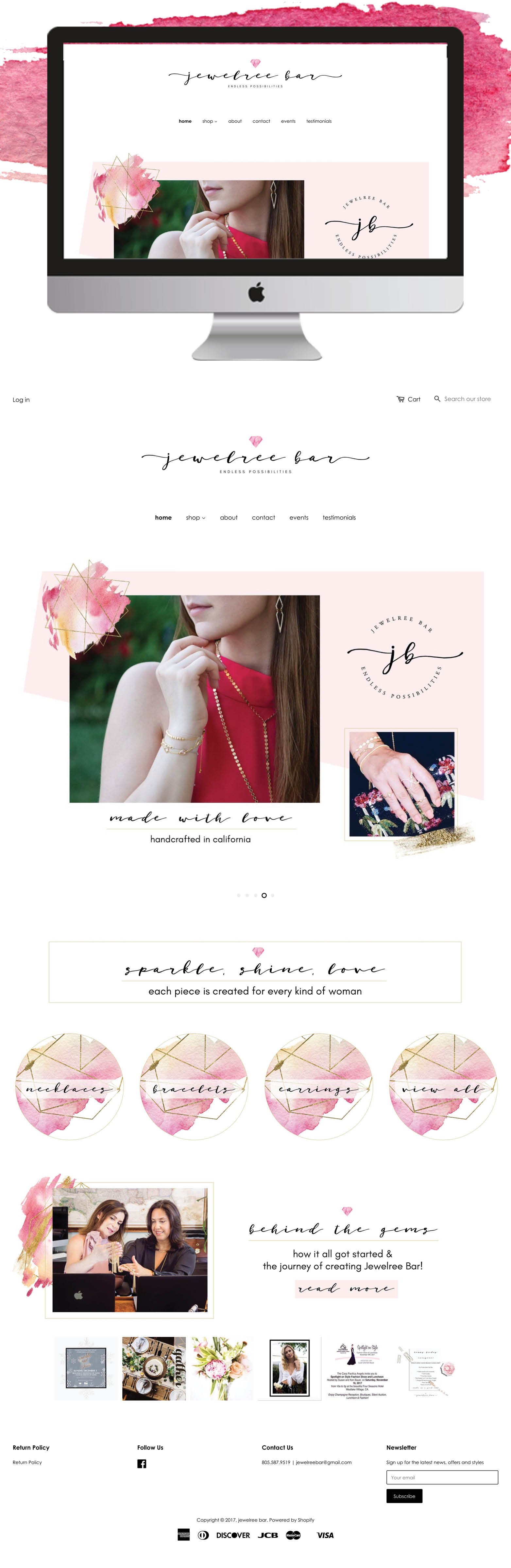 Jewelree Bar Website Design