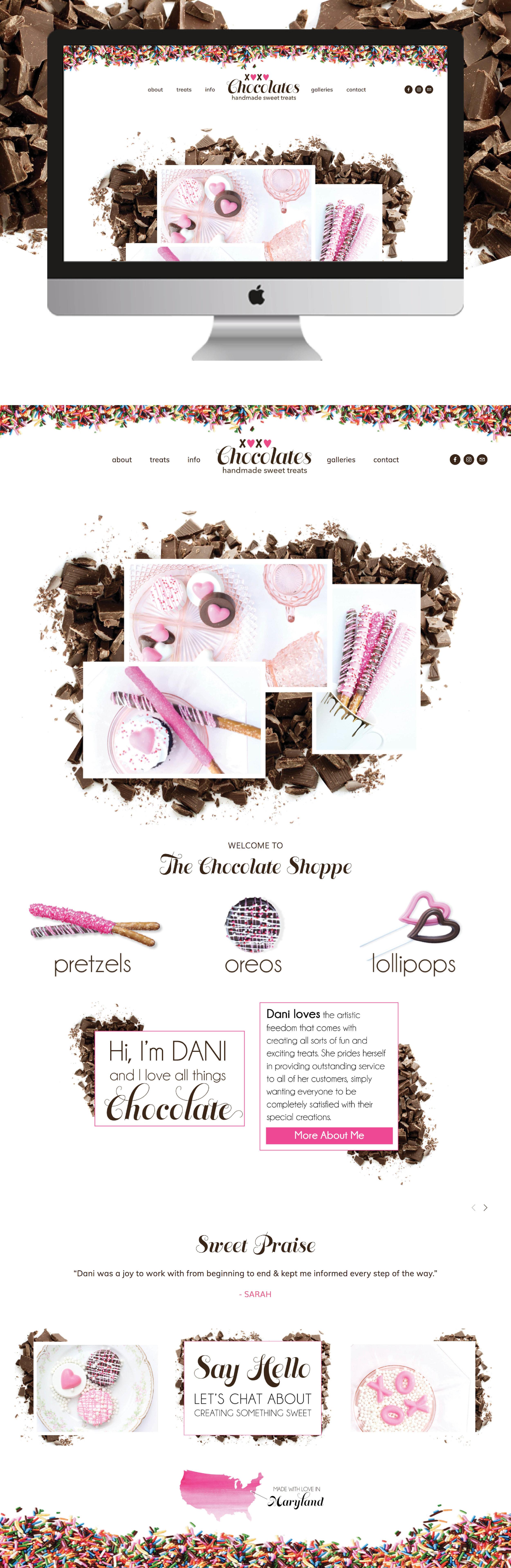 xoxo Chocolates Website Design