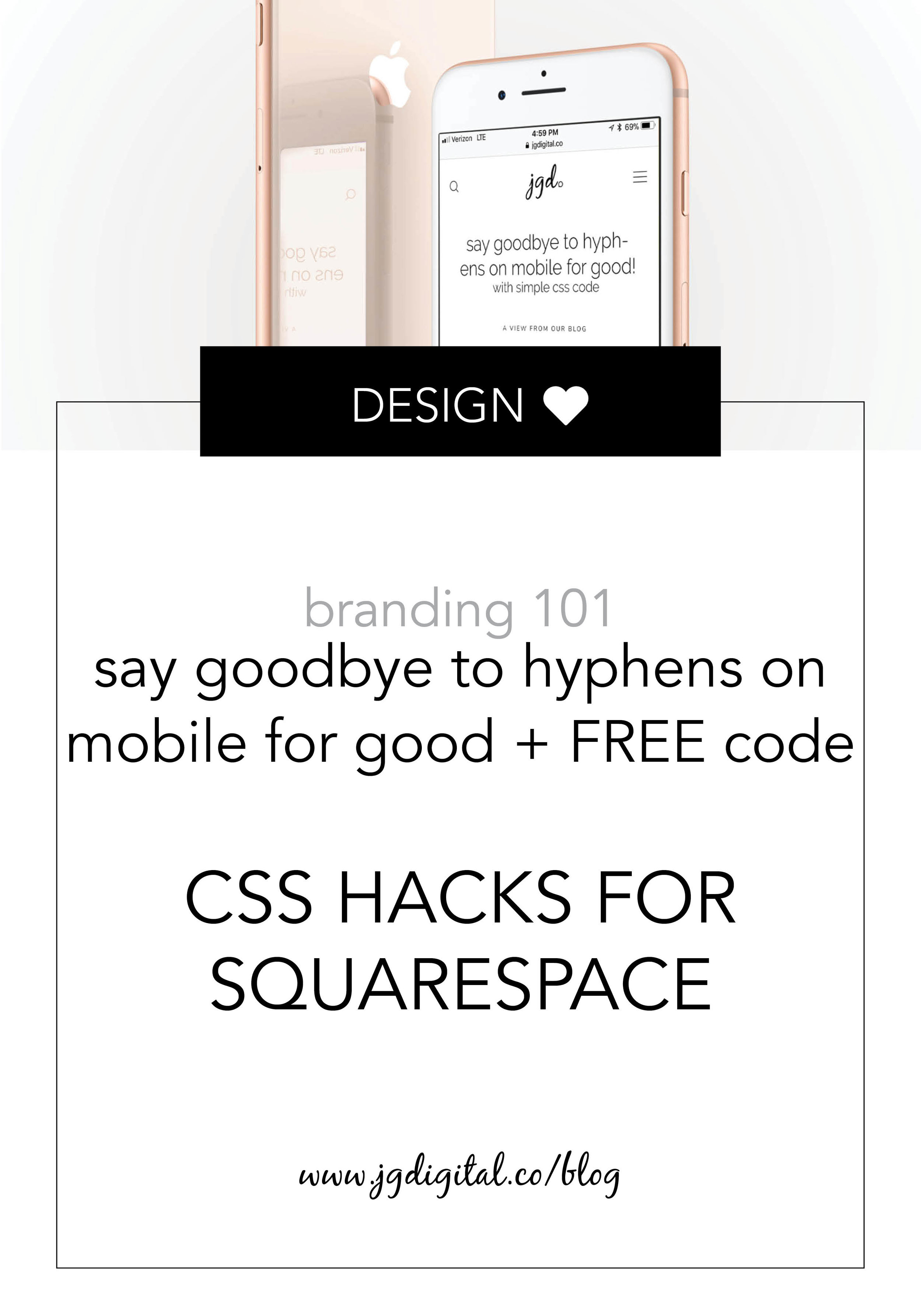Learn How to Remove Hyphens in Text Blocks on Mobile - For Good! FREE & Simple CSS Code and Step-by-Step Process Included by jgdigital.co