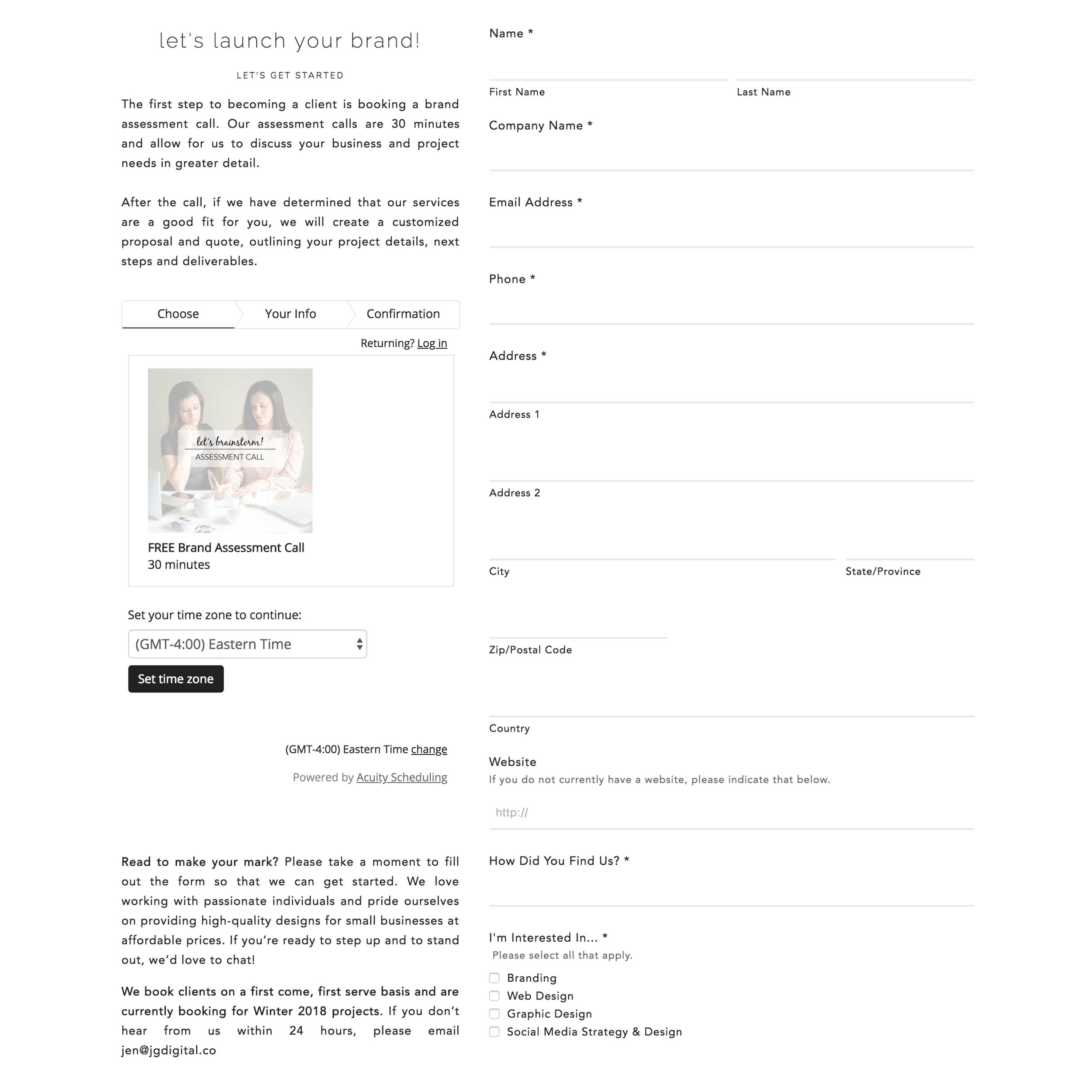 CSS for Squarespace: How To Create a Custom Contact Form Example 1