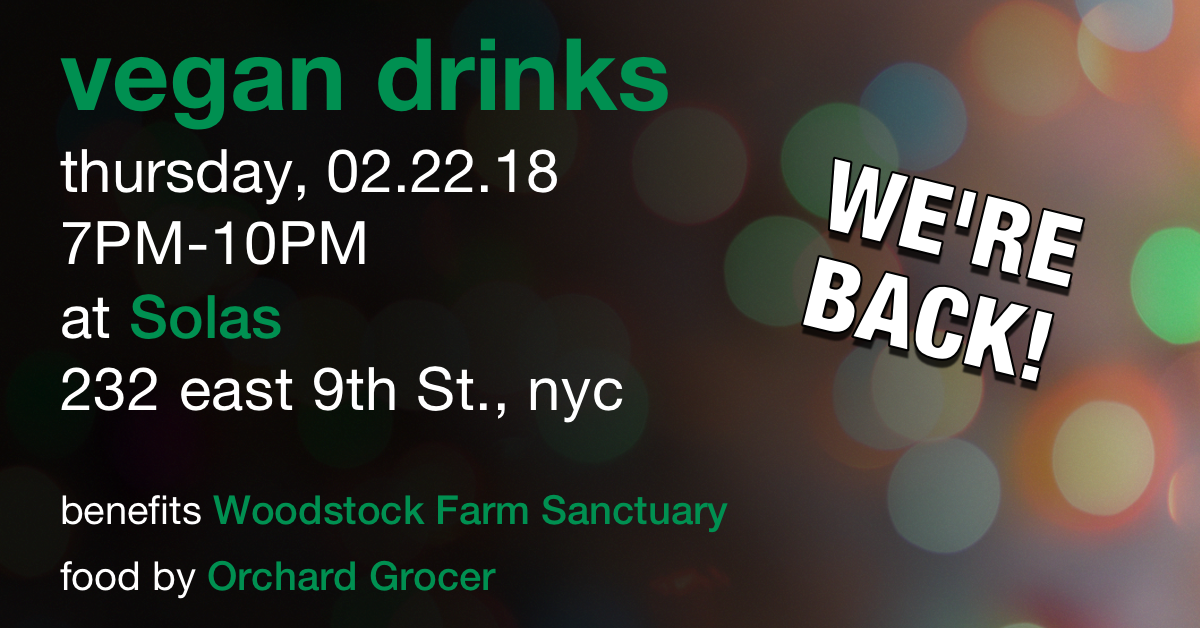 2.22.18 - Beneficiary: Woodstock Farm SanctuaryFood Vendor: Orchard Grocer
