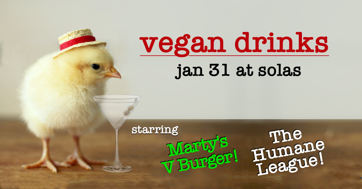 1.31.19 - Beneficiary: The Humane LeagueFood Vendor: Marty's V Burger