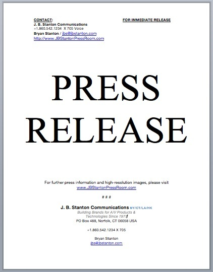 Click to Download Press Release