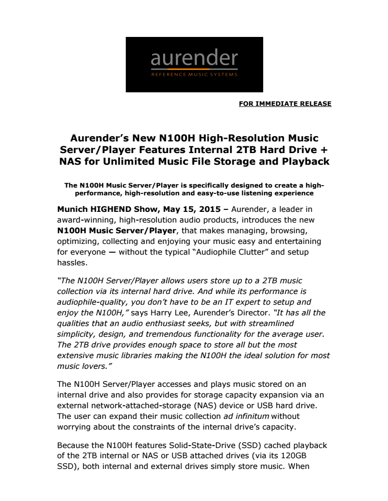 Click here to download the press release