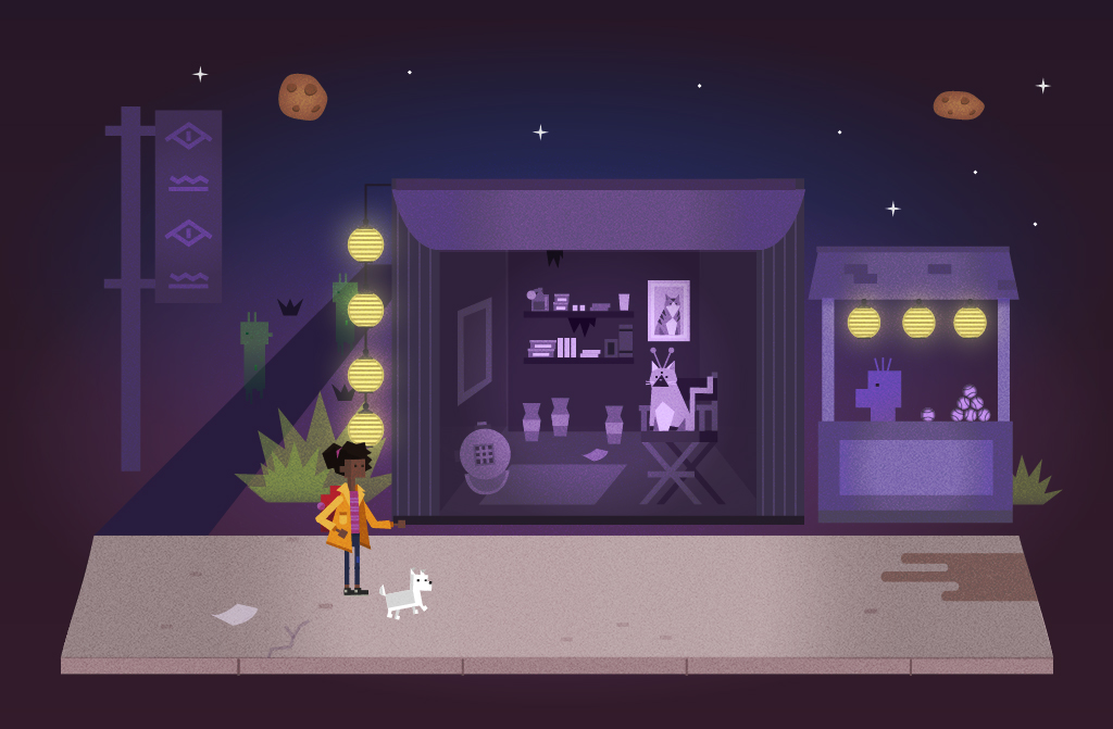 Miya and Penny find themselves in an alien market. Students help Miya barter to find them lunch.