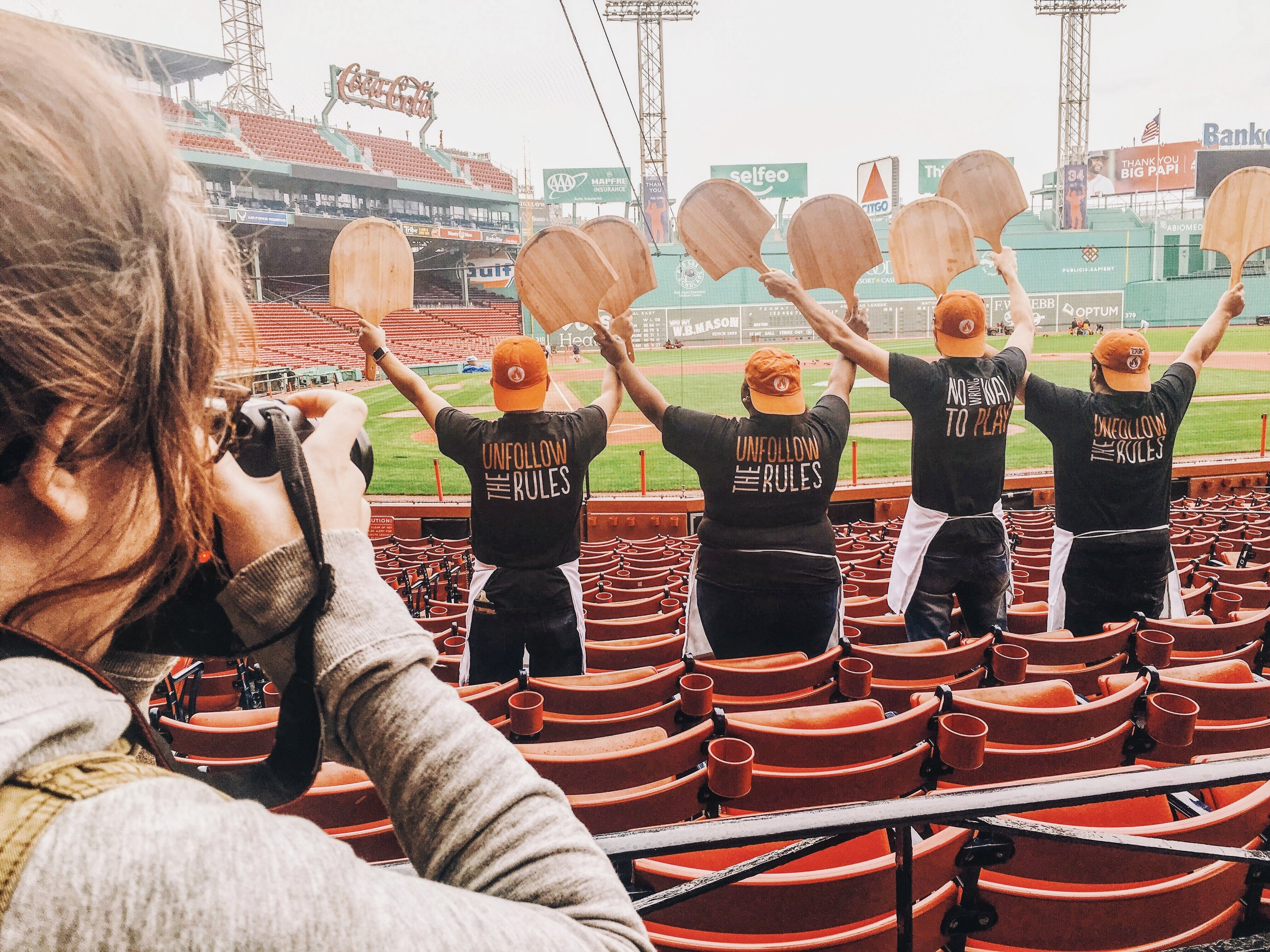Shooting at Fenway Park for the opening of Blaze Pizza