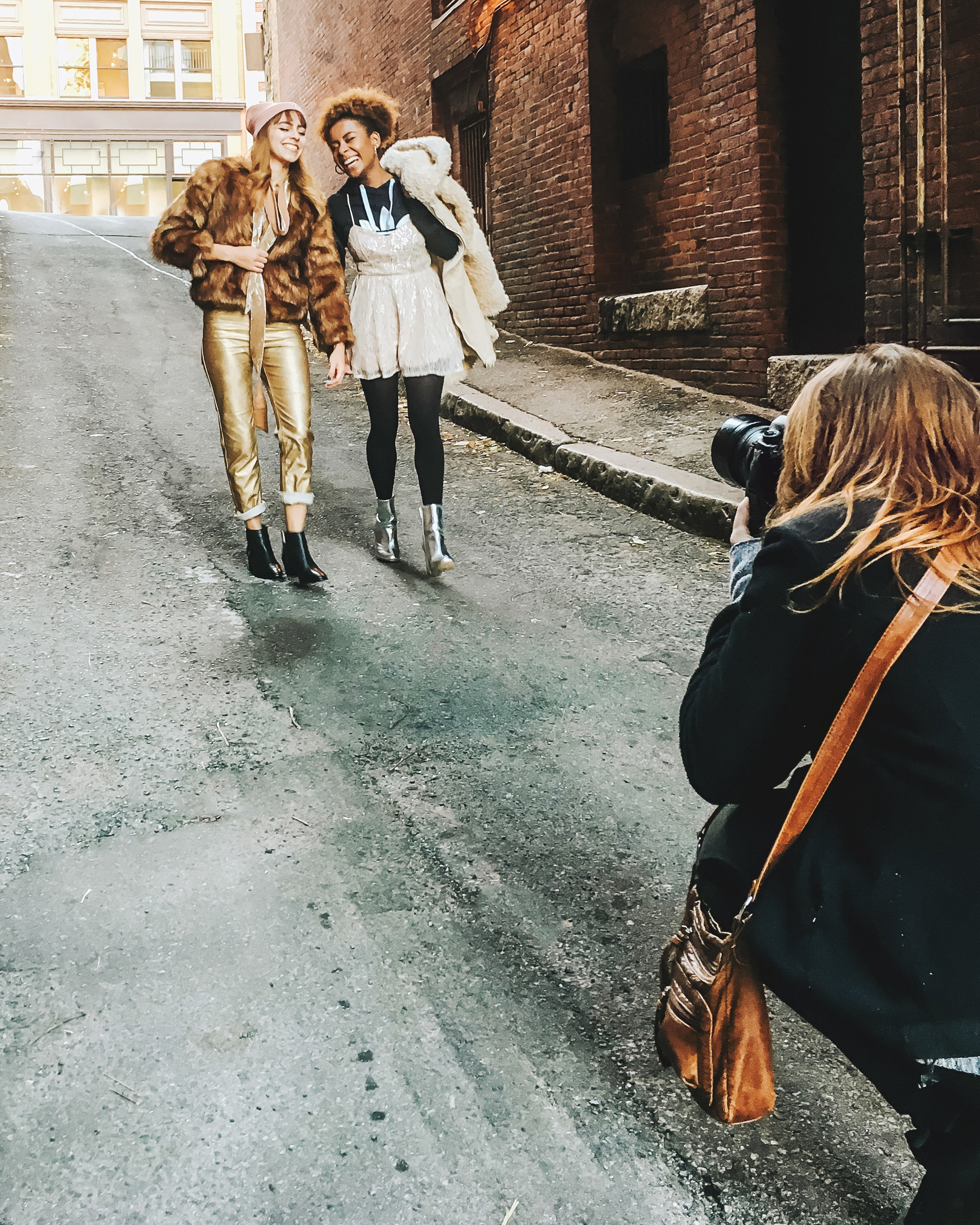 Shooting with Urban Outfitters Boston - we collaborate at least once a month!