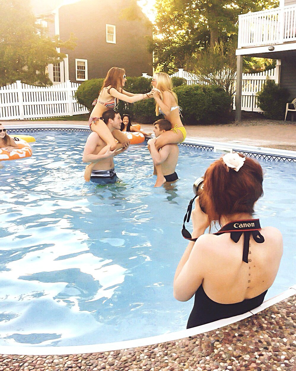Pool party stock shoot! Sometimes you gotta just jump in.