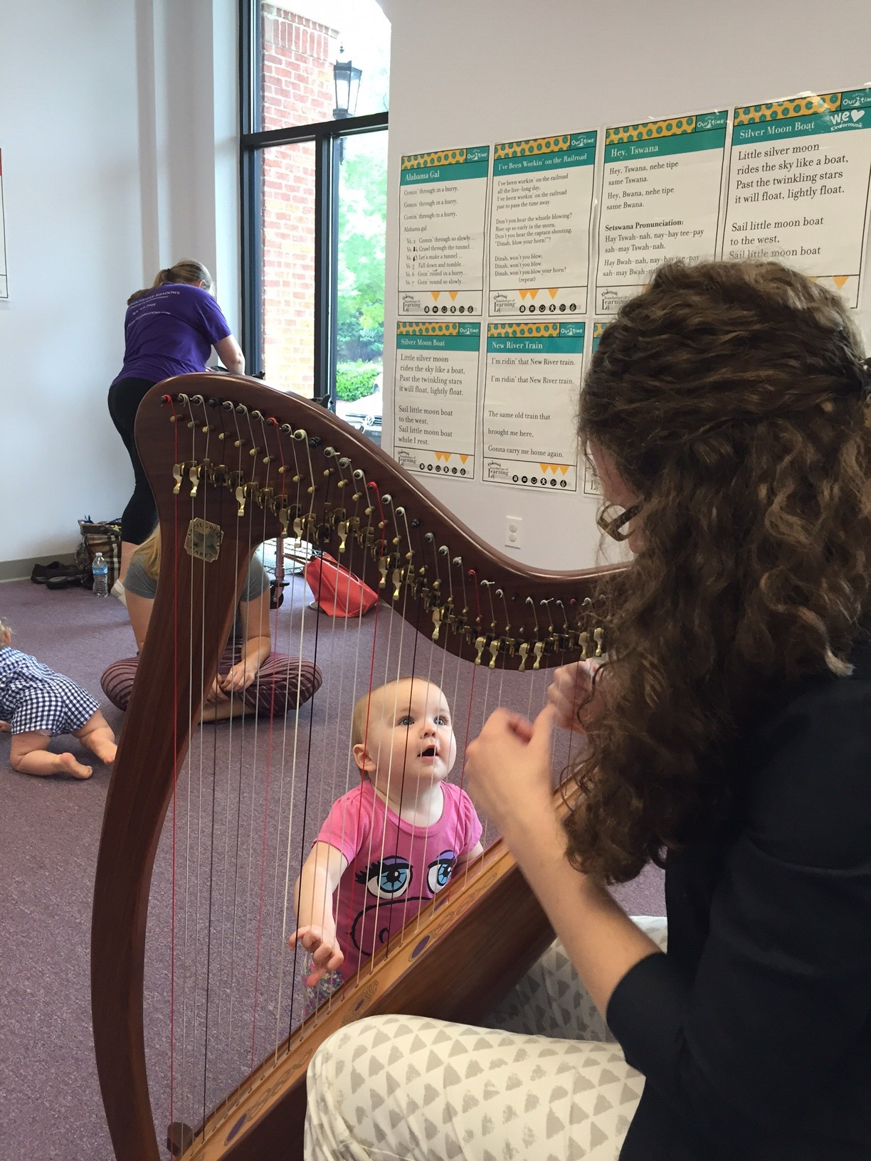 Holding on to those harp strings!