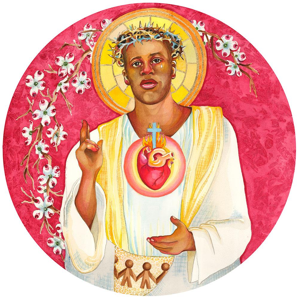 Sacred Heart Jesus - Black Lives Matter