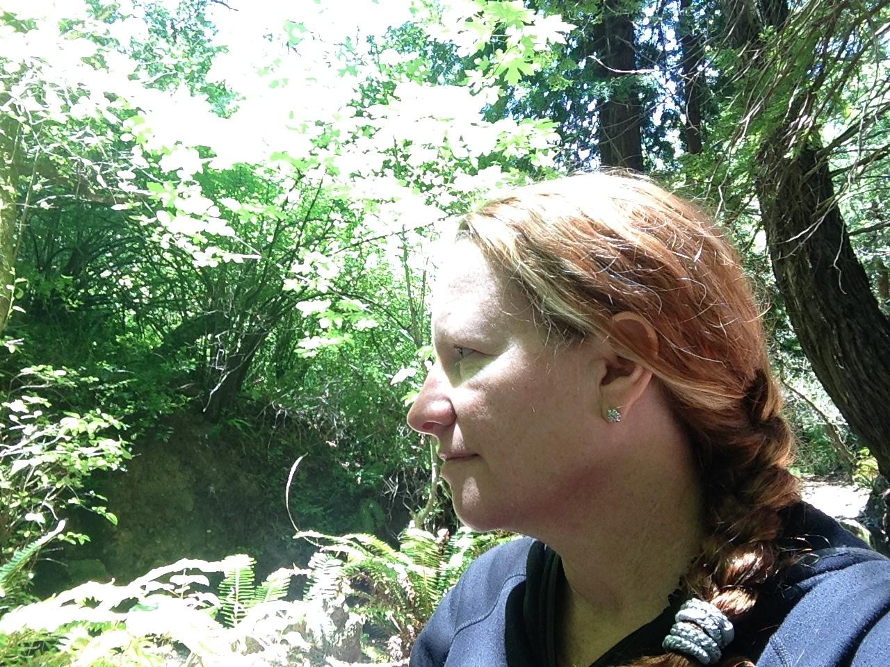 The author hiking at Purissma Creek.