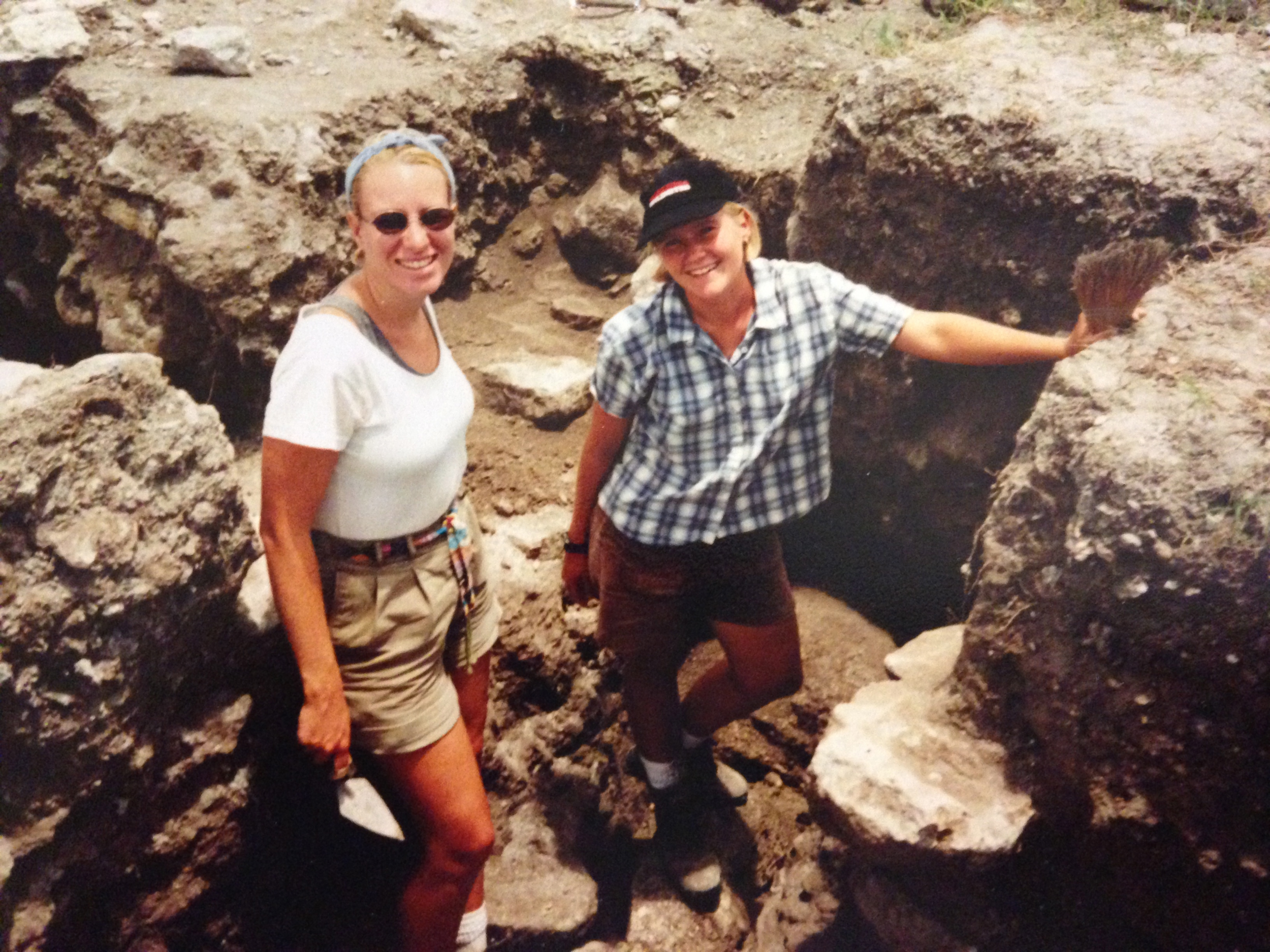Me and a fellow doctoral student in an excavation unit at the Blue Creek Site in Northern Belize, Central America.