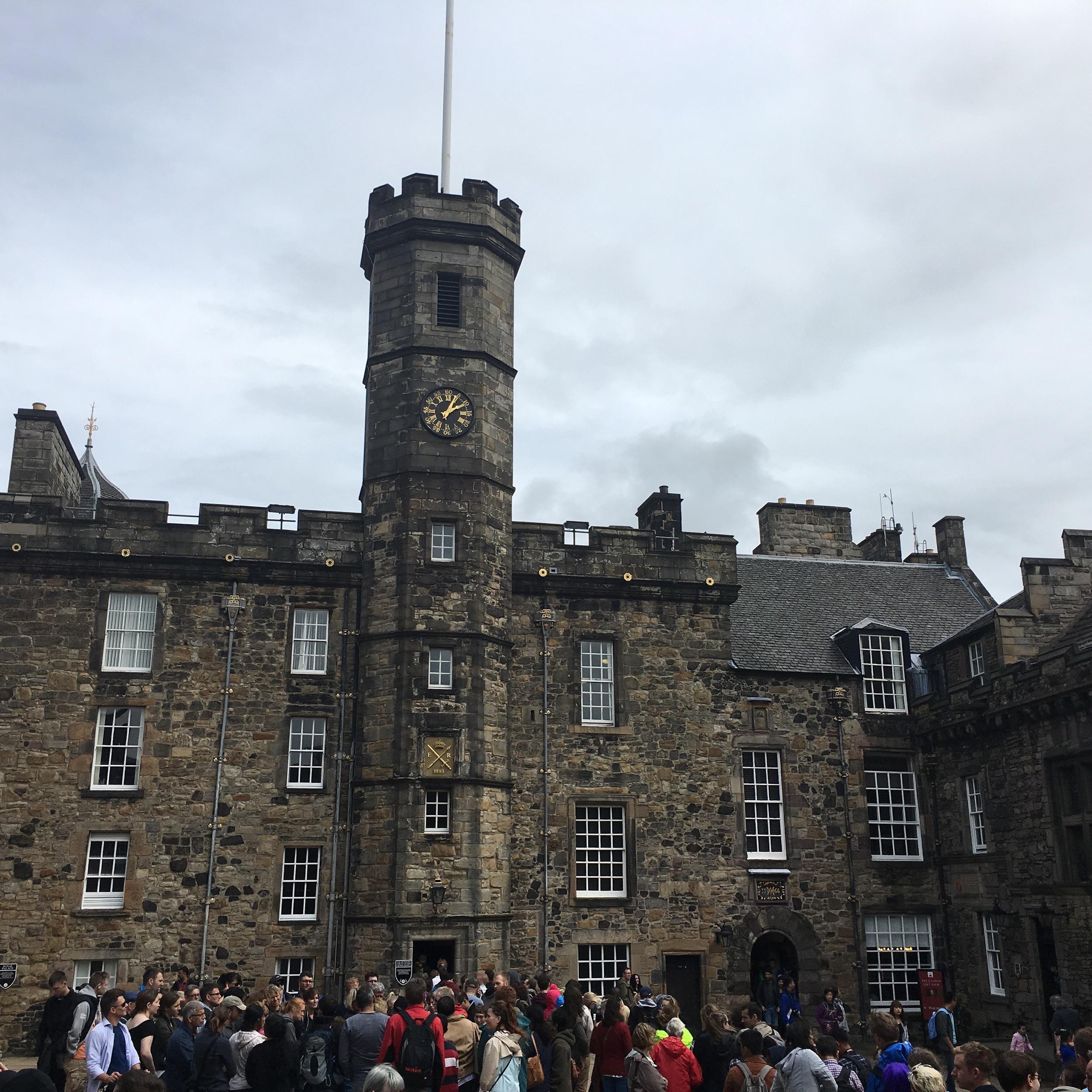 Inside Edinburgh Castle grounds