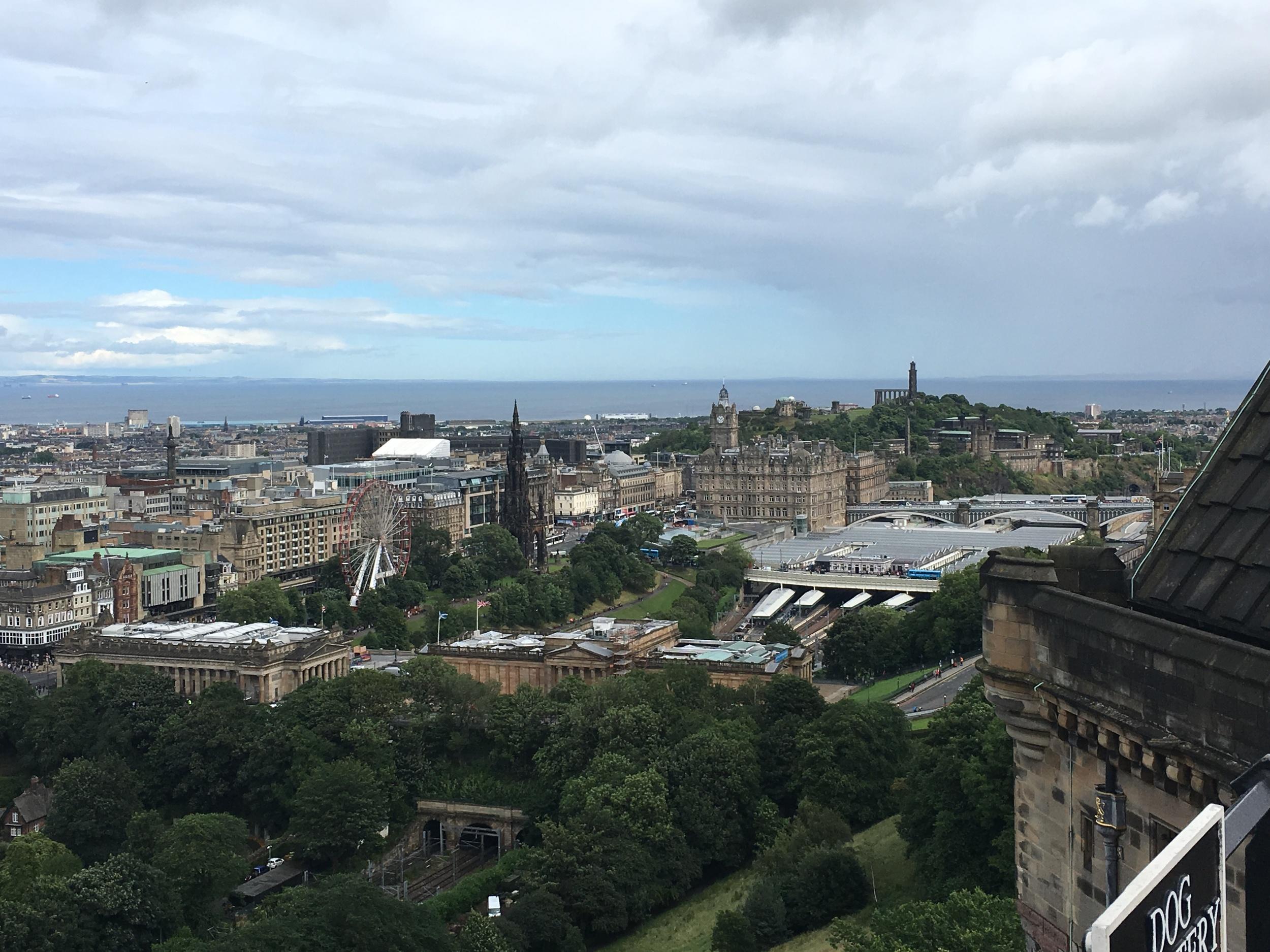 View from Edinburgh Castle Ramparts