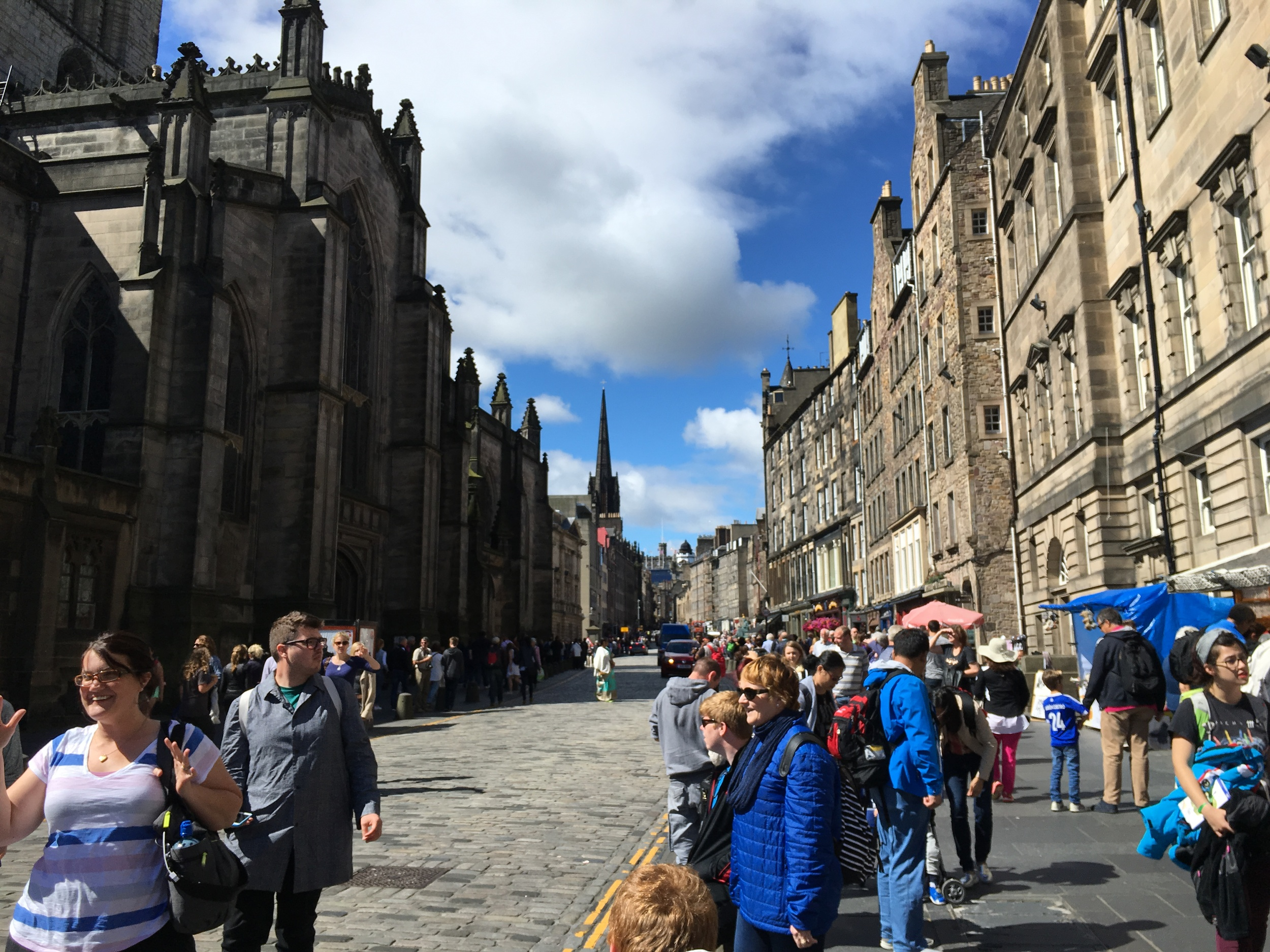 View Up the Royal Mile
