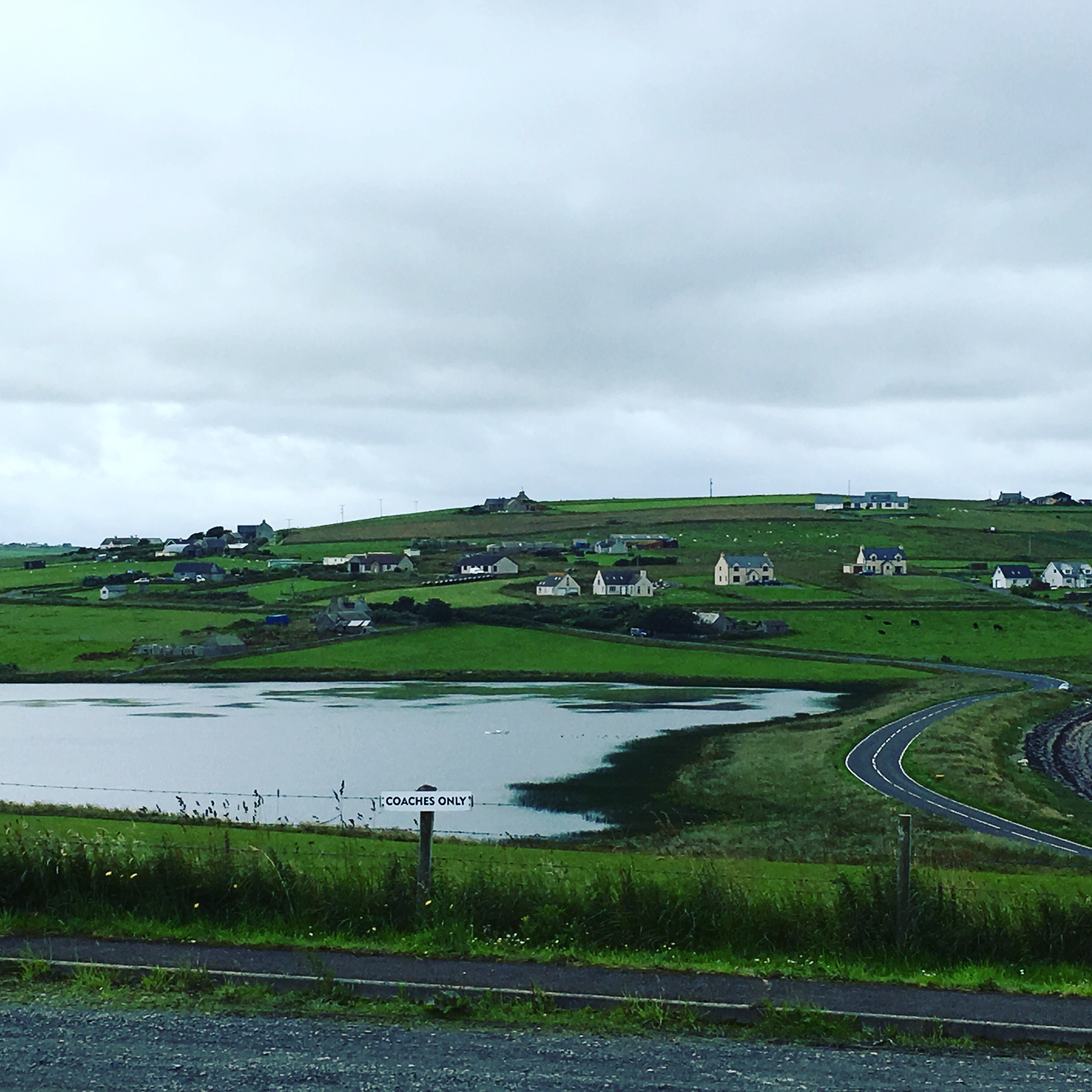 The beautiful Orkney countryside.