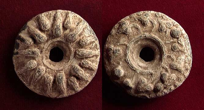 Roman Lead Spindle Whorls