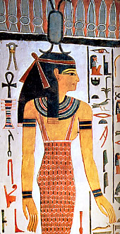 The Goddess Neith in the tomb of Nefertiti.
