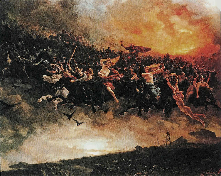 Åsgårdsreien  (The Wild Hunt) by Peter Nicolai Arbo, 1872