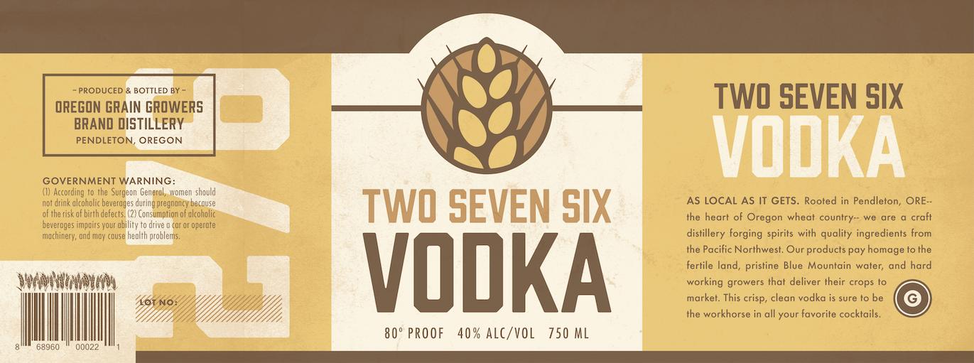 276 Vodka Label