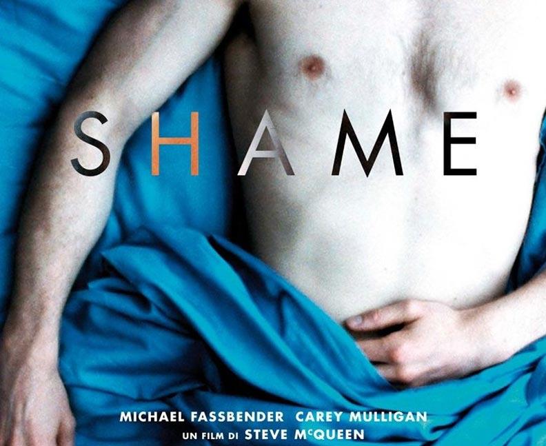 "The iconic poster for Steve McQueen's ""Shame"""