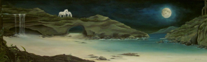Moonlit Coast. Oil. 2013.