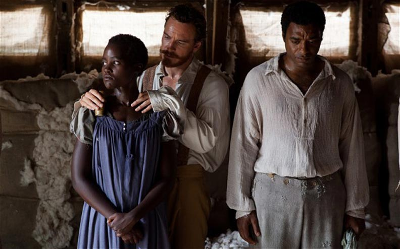 A tense scene from '12 Years A Slave'