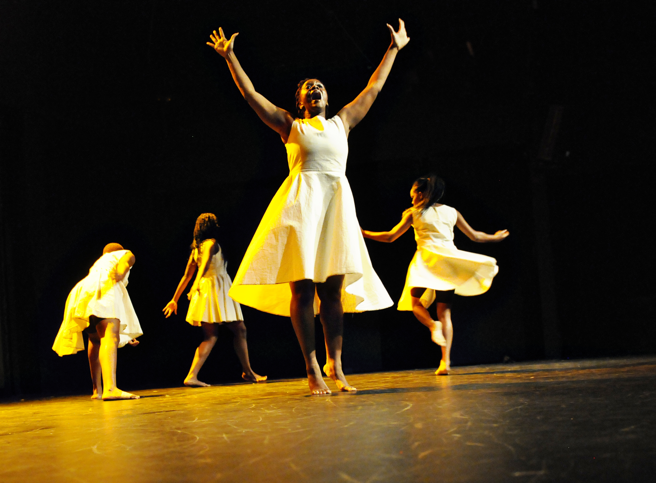 TroubleFree (2012)  Dancers: Anika Marcelle, Jillene Forde, Tracey Lucas, Jonatha Sutherland and Zhané George Dance Show: COCO Dance Festival 2012 Photography: Karen Johnstone  Location: Little Carib Theatre, Port-of-Spain - Trinidad