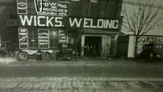 First Wicks Welding Shop in Flushing, Queens circa 1920's.