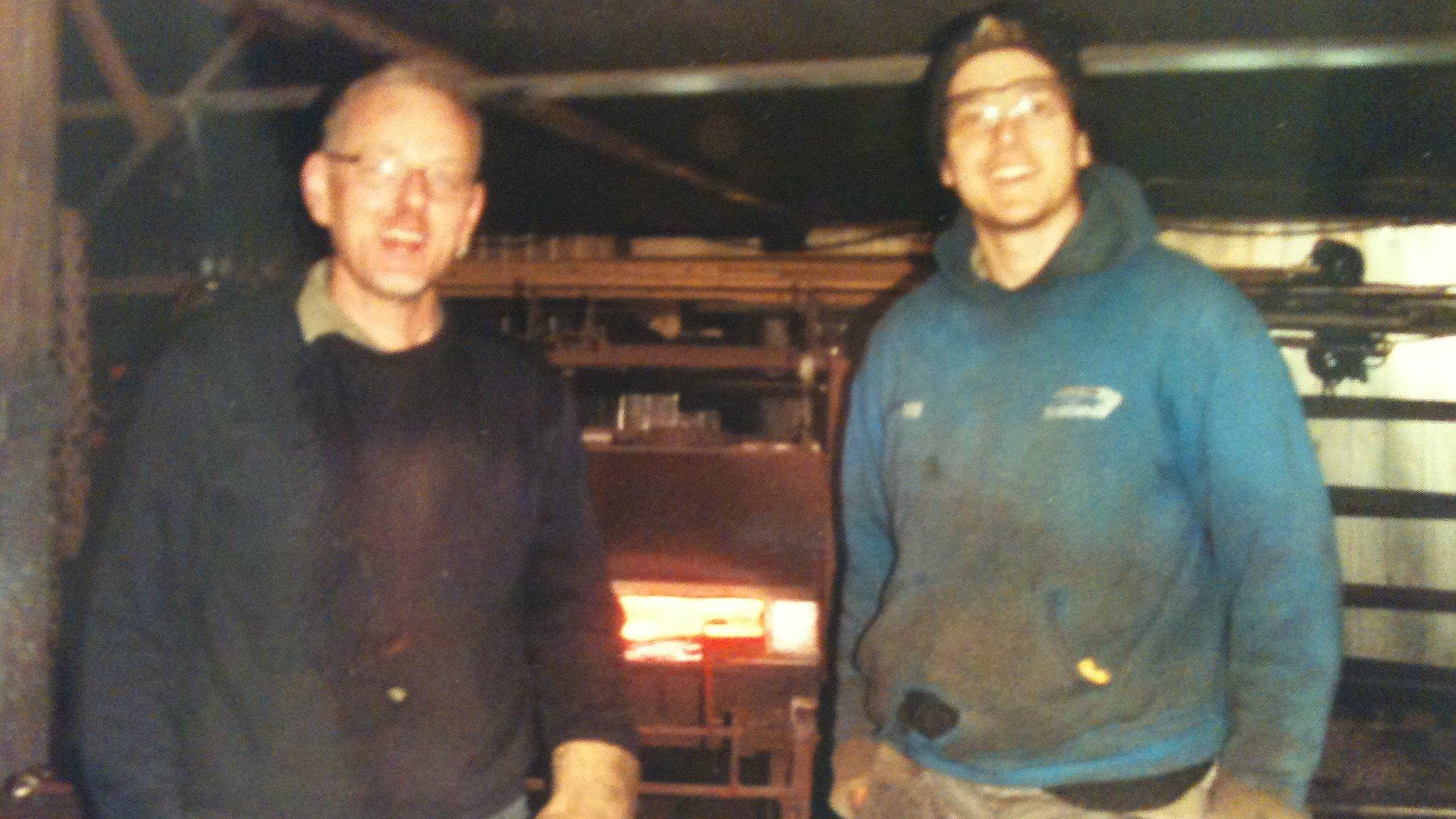 Jim Whitson, master blacksmith and Nick in Scotland.