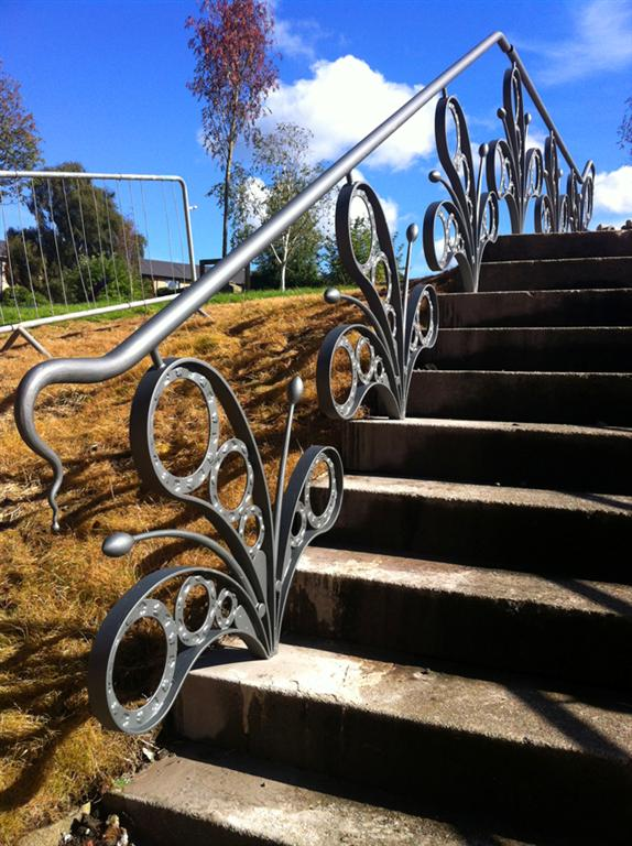 Riverford Railings - Design by Jim Whitson, assisted with fabrication and installation as apprentice in 2012