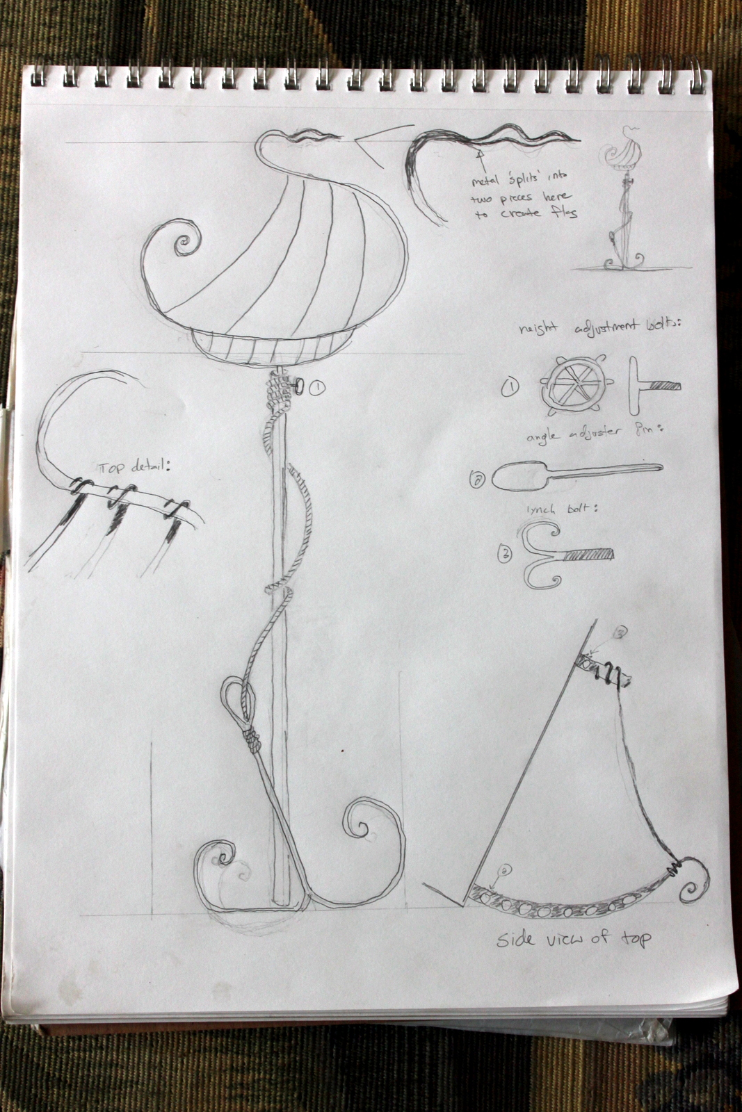 The completed design