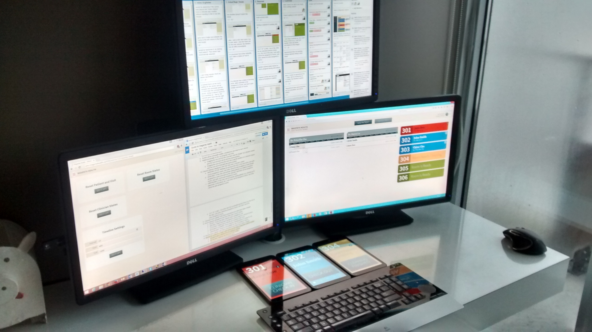 Why large  multiple monitors  are so important for working effectively.