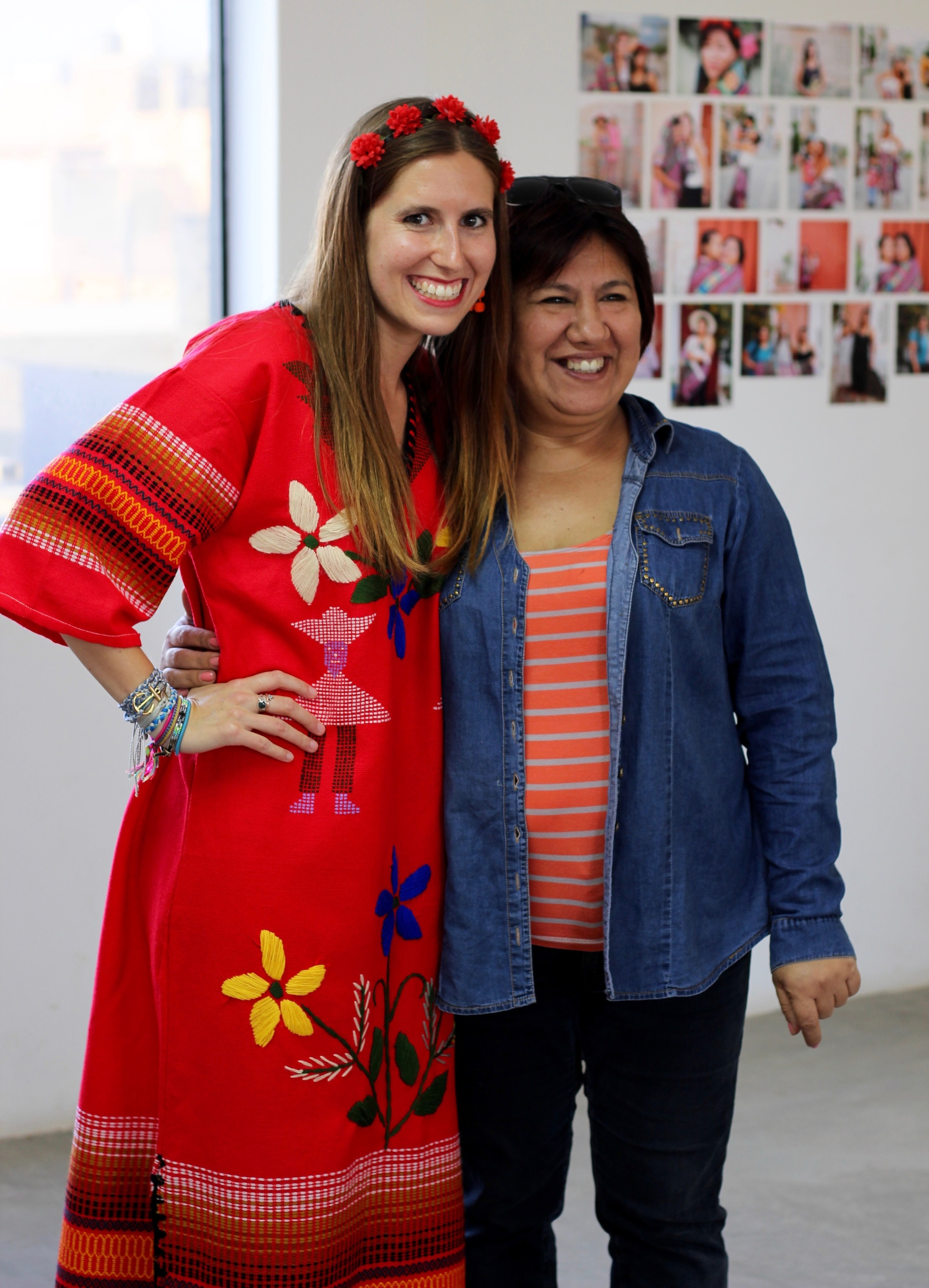 This is Chalbela who gave me this beautiful Peruvian dress!
