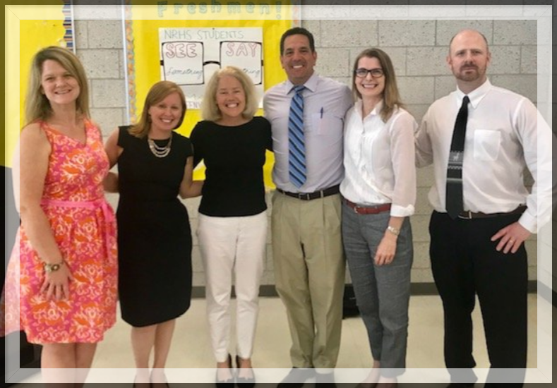 Pictured above: Lainie Loveless, Lauren Hajjar  @LaurenHaj , Jody Hoffer Gittell  @jodyhoffergit , AJ Loprete  @northreadinghs , myself and Daniel Downs  @danieldowns