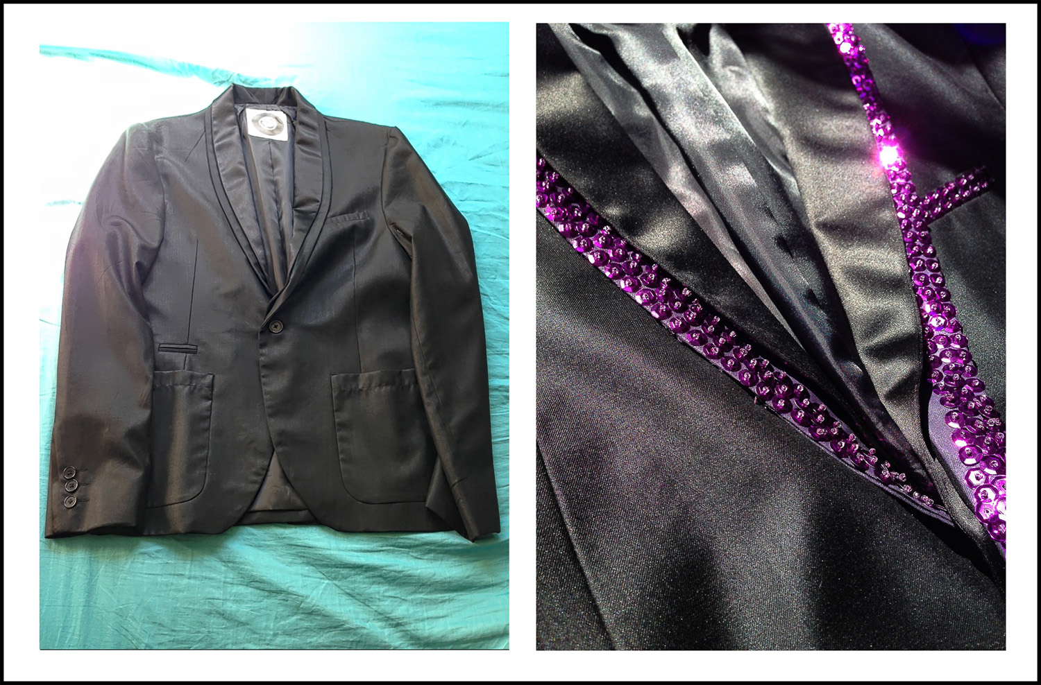 Kanen's jacket. Before and after.